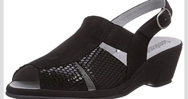 Discounter Rieker Damen Sandaletten Sandalette mit Print