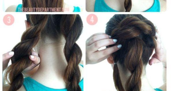 bigger, better buns, double rope braid bun rope braid bun pretty hair