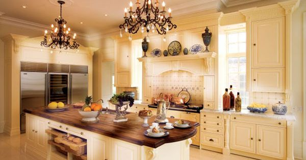 ivory kitchen cabinets with dark countertops | Luxury Kitchen Decorating Ideas: white