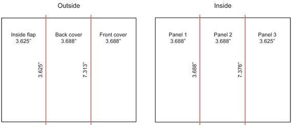 Tri Fold Brochure Dimensions Brochure Size Trifold Brochure Design Brochure Design Layout
