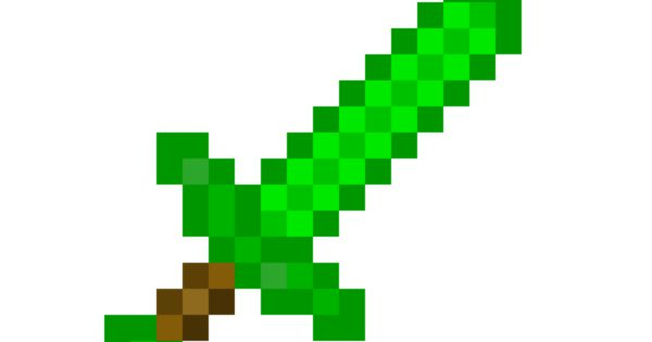 Do You Like My Sword Sword Sword My Emerald Sword Its Amazing Minecraft Printables Minecraft Pixel Art Minecraft Toys