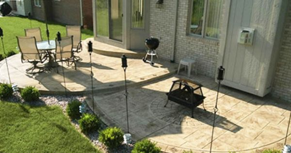 Diy Home Design Ideas Com: Once The Stamped Concrete Patio Is Thoroughly Washed You