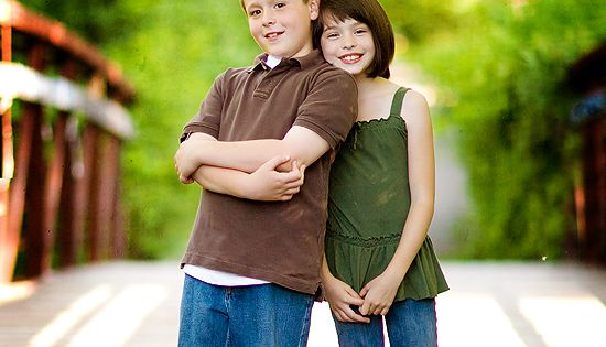Cute pose for brother and sister. [My brother and I once did