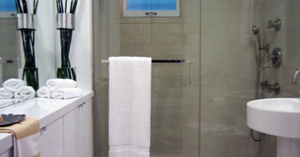 No Room For A Towel Bar Mount In On The Shower Door Small Bathroom Ideas Pinterest Bath