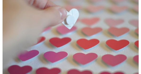 DIY Hearts Shaped Paint Chip Art this is ridiculously cute....definitely doing something