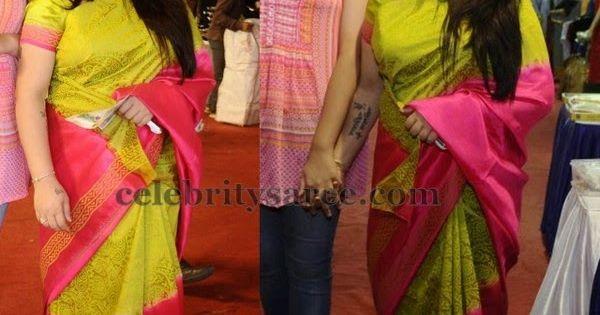 Kushboo brasso kota saree saree blouse patterns for Asha ramachandran mural painting
