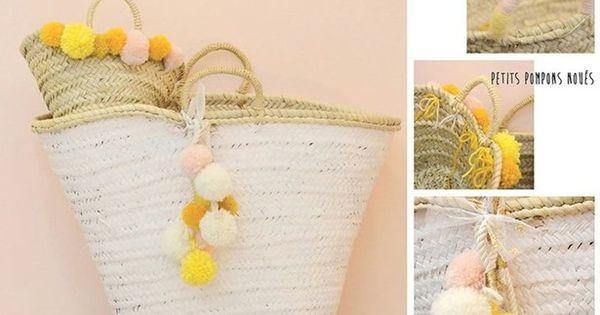 customisez votre panier de plage fa on ibiza la mercerie paniers pinterest cestas. Black Bedroom Furniture Sets. Home Design Ideas