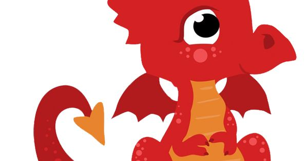 Cute Little Red Dragon Png 664 709 Free Graphics Kids Birthday Cards Red Dragon