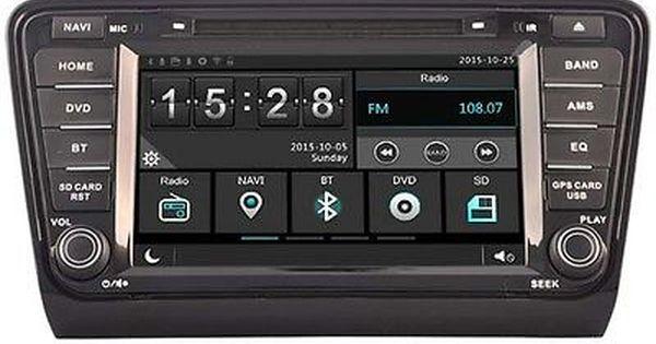 277 14 Car Dvd Headunit Radio For Skoda Octavia 2013 2014 Gps Navi Bluetooth Wifi Dvr Features Bluetooth Ready Screen Car Dvd Players Car Navigation Dvd