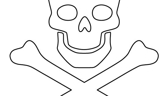 Skull and crossbones pattern. Use the printable outline ...