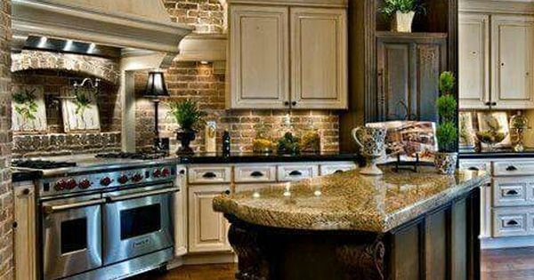 Gorgeous love that stove rooms pinterest stove for Kitchen cabinets vernon bc