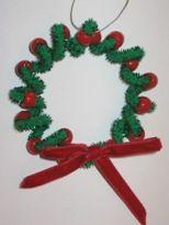 Chenille Stem Wreath Ornament Craft Third Grade Christmas Crafts Pony Bead Crafts Kids Christmas Ornaments