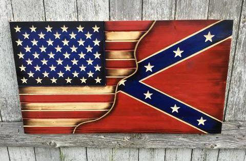 American Confederate Split Series American Flag Wood Flag Crafts Wooden Flag