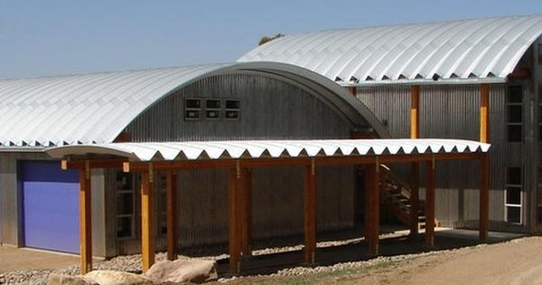 Steel building with quonset type roof design quonset for Clear story roof design