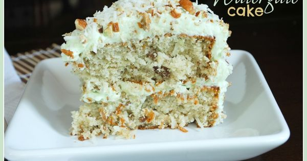 Watergate Cake: pistachio, coconut, and pudding in a delicious layer cake! Recipe