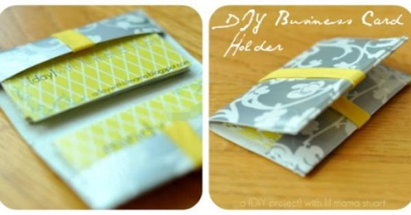 15 Diy Business Card Holders Free Patterns Business Cards Diy Templates Duct Tape Business Card Holders