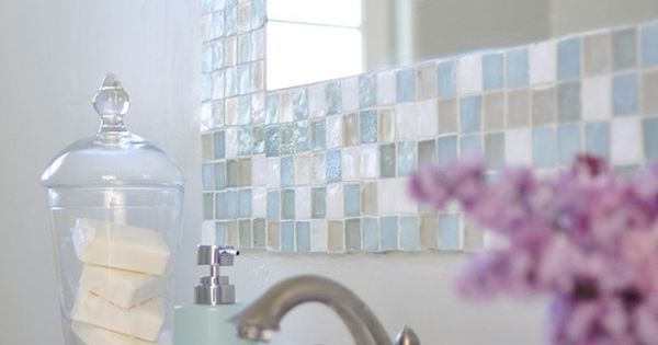 Make your own gorgeous tile mirror 1000 times nicer for Design your own bathroom tiles