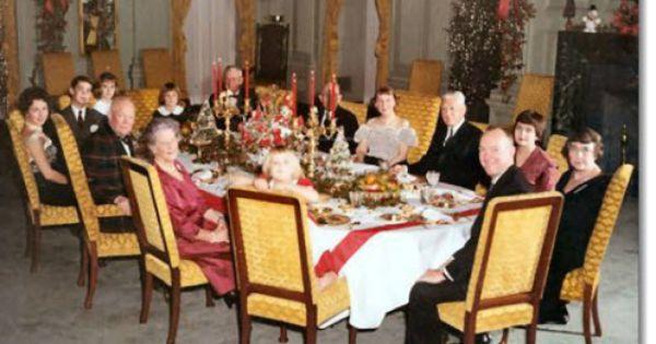 President Dwight Eisenhower Family Christmas Dinner State