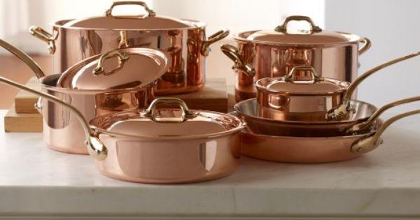Mauviel Copper 12 Piece Cookware Set Williams Sonoma Ok