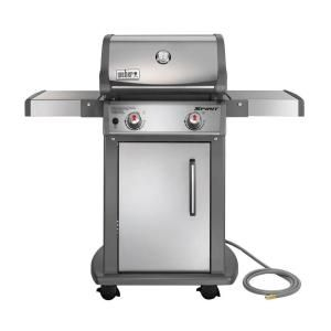 Weber Spirit S 210 2 Burner Natural Gas Grill In Stainless Steel With Built In Thermometer 47100001 Natural Gas Grill Gas Grill Propane Gas Grill