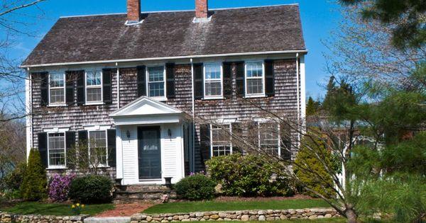 Cape Cod Style Homes Cedar Shingle Siding White Trim