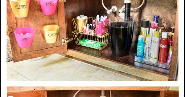 Have a mess under the bathroom sink? Get your vanity cabinet organized