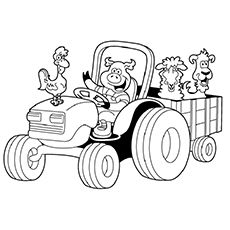 25 Adventurous Tractor Coloring Pages For Your Little Ones Tractor Coloring Pages Farm Animal Coloring Pages Animal Coloring Pages