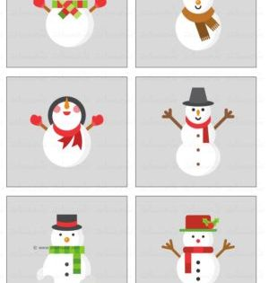 مطابقة الظل رجل الثلج انشطة مطبوعة فصل الشتاء Holiday Decor Holiday Cards