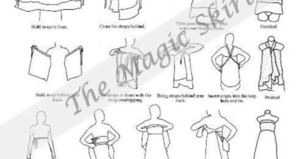 100 ways to wrap a dress instructions