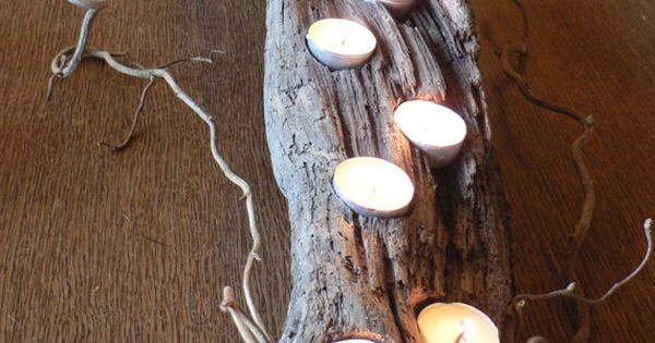 Driftwood, Rustic candle holder, large driftwood candle holder, wedding gift idea, Cabin