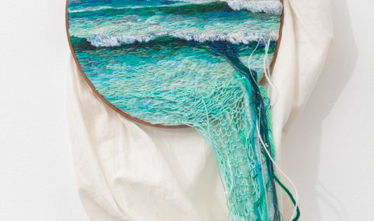 3D ocean fiber art embroidery of the ocean by ana teresa barboza