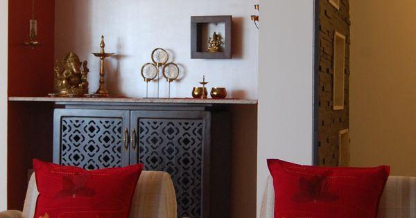 Contemporary minimalist and simple deity space mandir for Houzify home design ideas