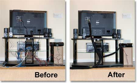 Organize Wires Behind Tv
