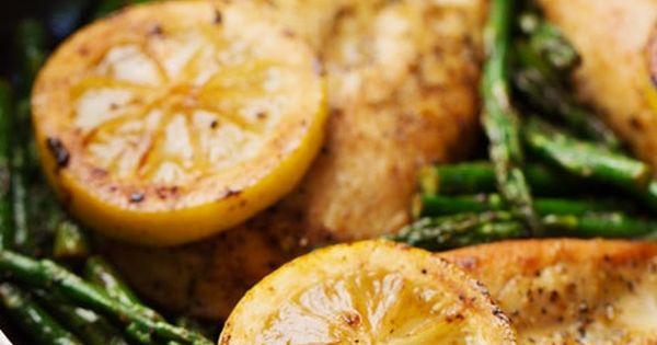 Lemon Chicken w/ Asparagus - NAY! Ew ew ew! This is one