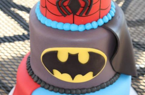 SUPER HERO CAKE.. Grey's 5th birthday cake idea!!!!
