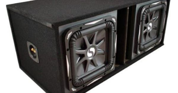 Kicker Car Audio Loaded Sub Box With Dual 12 Inch L7 Series S12l7 Subwoofers Car Audio Kicker Car Audio Car Stereo Systems