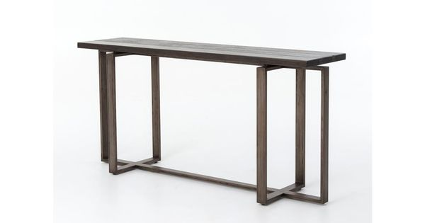 Four Hands Living Room Brant Console Table Uwes 007 Bob Mills Furniture Oklahoma City Okc Ama Industrial Style Furniture Designer Console Table Furniture