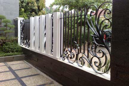 70 Minimalist House Fence Designs Wood And Iron Dengan Gambar