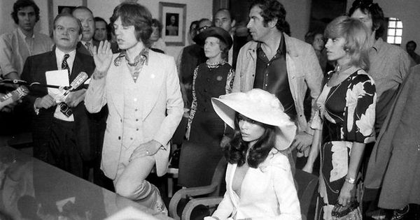 mick jagger amp bianca jagger wedding bruiloft pinterest