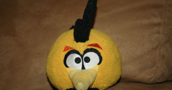 Angry birds plush 5 inch orange globe bird with sound toys games angry birds - Angry birds big brother plush ...