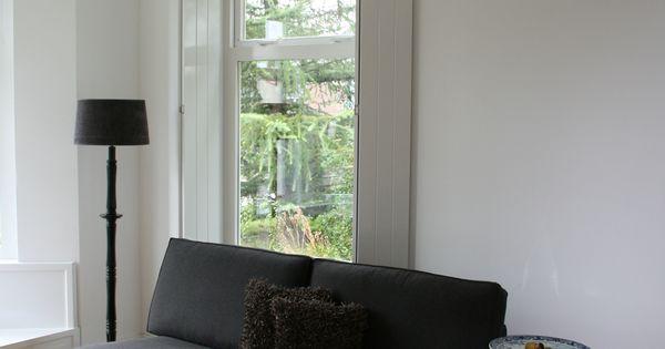 Bank ikea model kivik 1 zitselement met chaise longue tweedehands lamp van oma in hoogglans - Verf balken ...