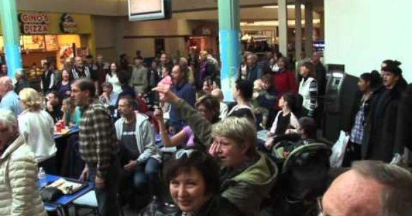 Christmas Carol Flash Mob Food Court