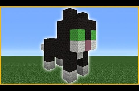 Minecraft Tutorial How To Make A Cute Cat Statue Youtube