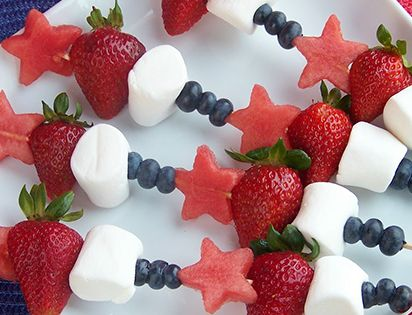 Being healthy doesn't mean cutting out treats altogether. These fruit kebabs are