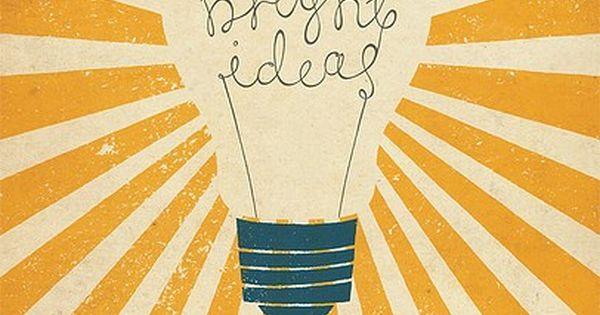 #lightbulb. brightideas graphic meggielynne yellow grey
