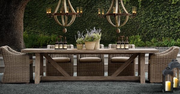 The Restoration Hardware Provence Dining Table And