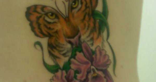 Butterfly tattoos tiger face in butterfly tattoo for Tiger face in butterfly tattoo