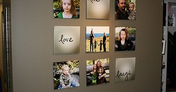 Picture wall ideas. Love the wall color and pics all together. Must