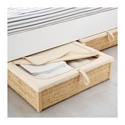 Romskog Underbed Storage Box Rattan 25 5 8x27 1 2 Under Bed