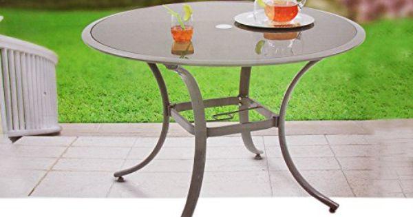 Alu Gartentisch Glastisch Glas Tisch Rund Tisch O 110 X 75cm